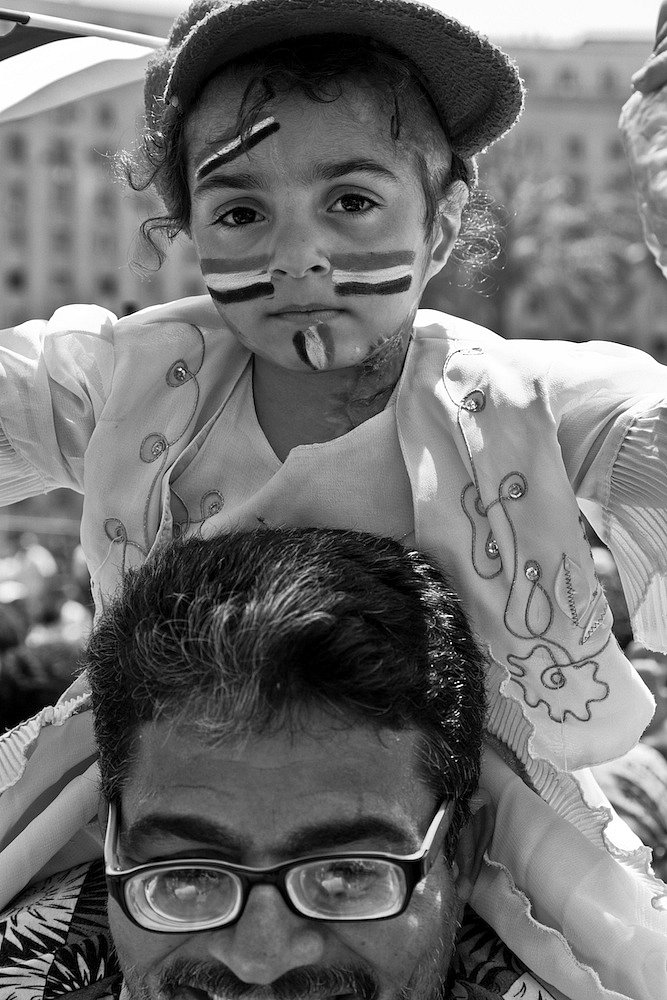 """""""faces of hope"""", friday july 1st 2011 at tahrir square in cairo"""